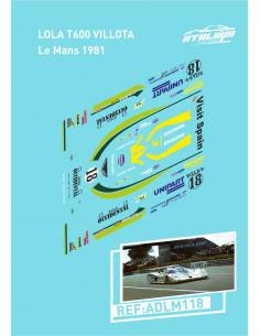 Lola T600 Villota Le Mans 1981