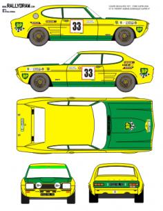 Ford Capri sabine Coupe des Alpes 1971