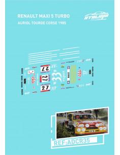 Renault Maxi5 Turbo 33 Auriol Tourde Corse 1985