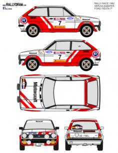 Ford Fiesta Servia Race 1982