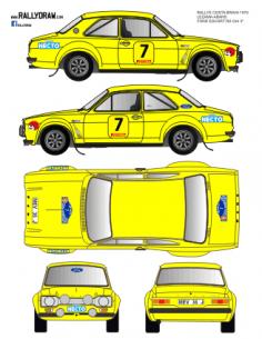 Ford Escort Mk1 Lezama Costa Brava 1976