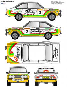 Ford Escort Mk2 Staepelaere Race 1978