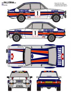 Ford Escort Mk2 Vatanen CS 1980