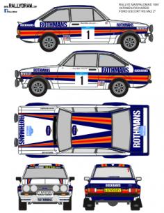 Ford Escort Mk2 Vatanen Maspalomas 1981