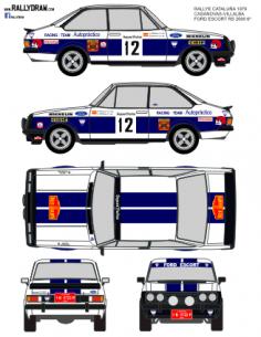 Ford Escort Rs 2000 Casanovas Catalunya 1979