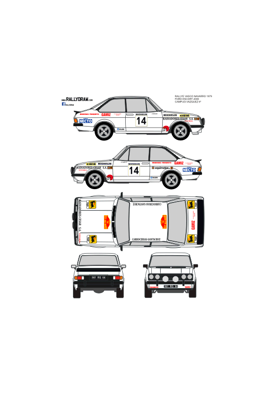 Ford Escort Rs 2000 Campijo Vasonavarro 1979