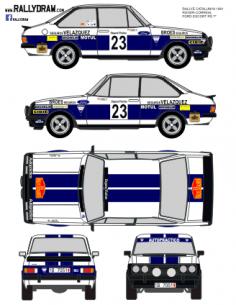 Ford Escort Rs 2000 Roger Catalunya 1981