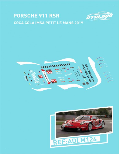 Porsche 911 SRS Coca Cola IMSA Petit LeMans 2019
