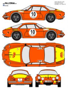 Renault Alpine a110 2000 Virajes 1970