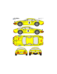Renault Alpine a110 Pla Barcelona-Andorra 1970