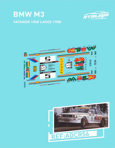 BMW M3 Vatanen 1000 Lagos 1988