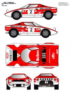Lancia Stratos (restyled) Munari Firestone 1973