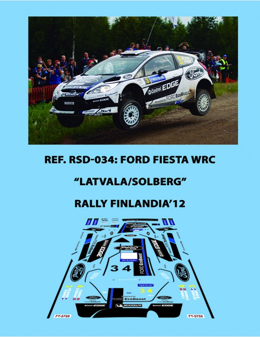 Ford Fiesta WRC Latvala/Solberg Finlandia 2012