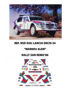 Lancia Delta S4 Alen Sanremo 1986