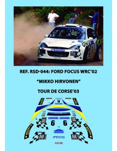 Ford Focus WRC Hirvonen Tour de Corse 2003
