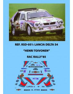 Lancia Delta S4 Toivonen RAC 1985