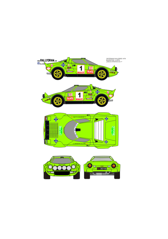 Lancia Stratos Bagration Guilleries 1979
