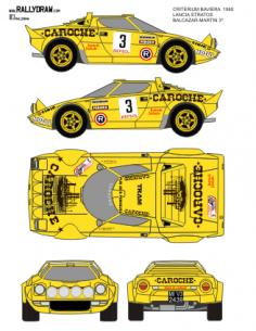 Lancia Stratos Balcazar Baviera 1980