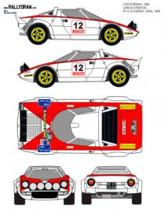 Lancia Stratos Oliveras Costa Brava 1980