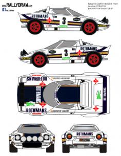 Lancia Stratos Bagration Corte Ingles 1981