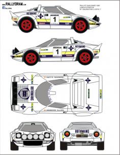 Lancia Stratos Bagration Shalymar 1980