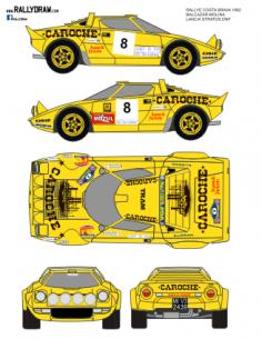 Lancia Stratos Balcazar Costa brava 1982