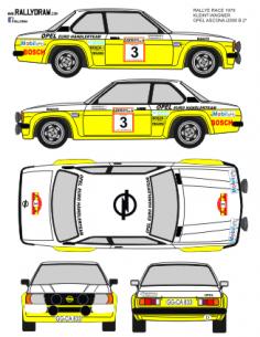 Opel Ascona Kleint Race 1979