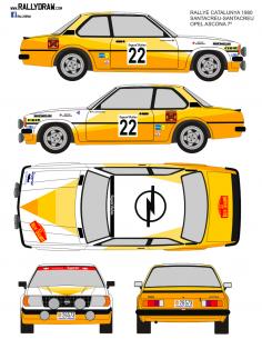 Opel Ascona Santacreu Catalunya 1980