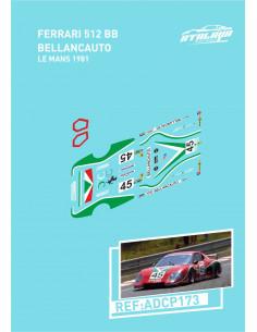 Ferrari 512 BB Bellancauto Le Mans 1981