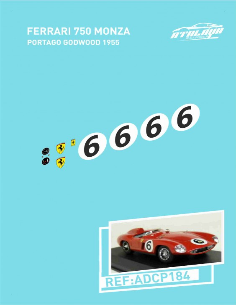 Ferrari 750 Monza Portago Godwood 1955