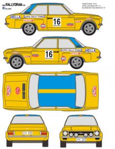 Opel Ascona SR Blomqvist Firestone 1973