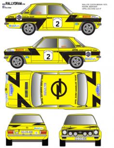 Opel Ascona SR Rohrl Costa Brava 1975