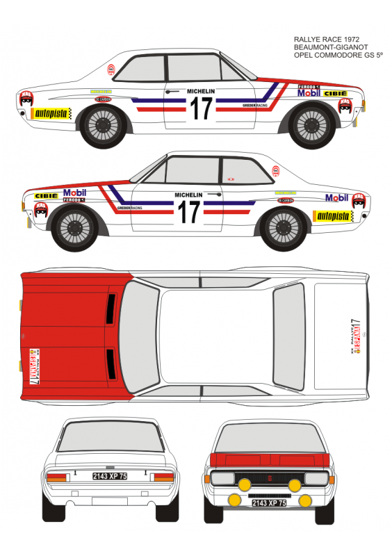 Opel Commodore Beaumont Race 1972