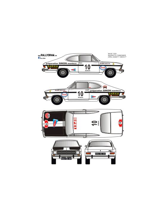 Opel Kadett Coupe Ragnotti Race 1970