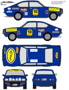 Opel Kadett GTE Sallent 2000 virajes 1978
