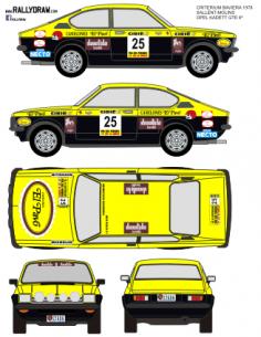 Opel Kadett GTE Sallent Baviera 1978