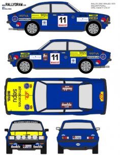Opel Kadett GTE Sallent 2000 Virajes 1979