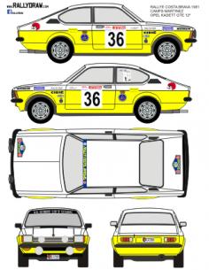 Opel Kadett GTE Camps Costa Brava 1981