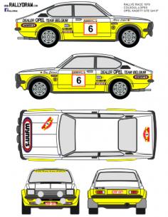 Opel Kadett GTE Coulsoul Race 1979