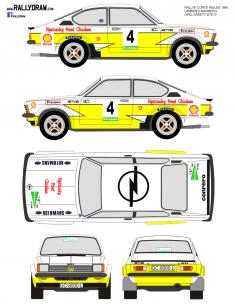 Opel Kadett GTE Lamberti Corte Ingles 1980