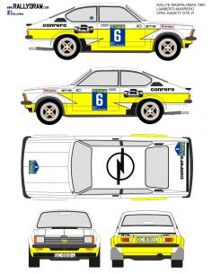 Opel Kadett GTE Lamberti Maspalomas 1980