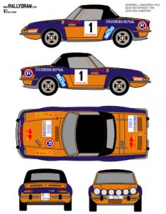 Seat 850 Spider Juncosa Vendrell-Andorra 1972