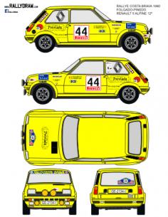 Renault 5 Alpine Folgado Costa Brava 1980