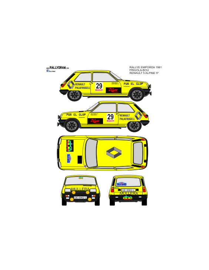 Renault 5 Alpine Frigola Emporda 1981
