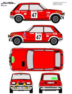 Renault 5 Alpine Auradell Guilleries 1981