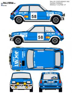 Renault 5 Alpine Fauria Costa Brava 1982