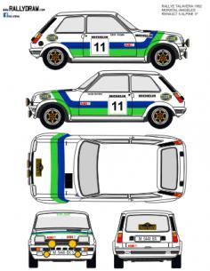 Renault 5 Alpine Moratal Talavera 1982