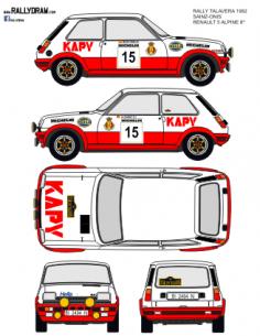 Renault 5 Alpine Sainz Talavera 1982