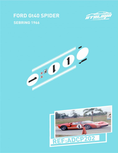 Ford GT40 Spider Sebring 1966
