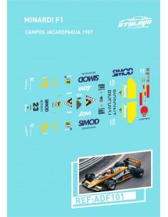 Minardi F1 Campos Jacarepagua 1987